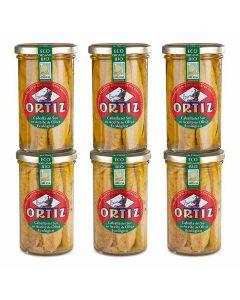 Ortiz makrillfiléer i olivolja EKO (6-pack)